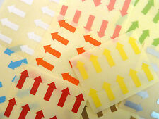 20x10mm Arrows Removable Low Tack Colour Code Stickers Coloured Sticky Labels