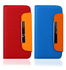 Leather Flip Case Credit ID Card Holder Cover Skin For iPhone 5 5G