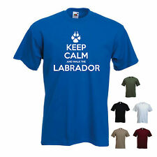 'Keep Calm and Walk the Labrador ' Mens funny Pet Dog Gift T-shirt. S-XXL