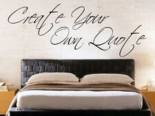 MAKE A QUOTE Design Your Favourite Song Lyrics Wall Art Sticker Girls Boys Decal
