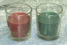 1-Votive Scented Container Candle~Evergreen or Cranberry~U-Choose