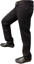 Mens Black Jeans Denim Straight Stretch Casual Pants Trousers Fashion