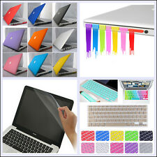 "4in1 Rubberized Hard Case+KB Cover+LCD Film+Plug for MacBook Air Pro 11"" 13"" 15"""
