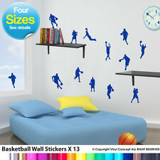 KIDS BASKETBALL WALL STICKERS, TRANSFERS, DIY DECO DECAL KIDS WALL STICKER CHILD