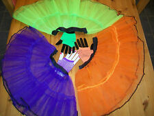 RARA TUTU/ PETTICOAT & SHORT FISHNET GLOVES SET PARTY/ DANCE 2 LAYER FRILL