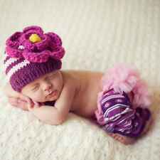 Melondipity Pink Daisy Baby Girl Baby Hat - Handmade Striped Crochet Beanie