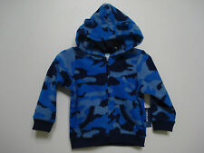 Old Navy Boys Blue Camouflage Fleece Jacket size 0-3 mos, 18-24 mos NWT
