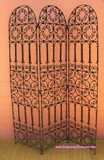 MOROCCAN ROOM DIVIDER SCREEN WROUGH IRON METAL SCREEN SEPERATED SEPERATION