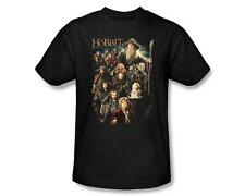 Hobbit Unexpected Journey Cast Characters Somber Company Tee Shirt Adult S-3XL