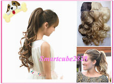 13 Color*Ladies Long (Wavy) Clip in Ponytail Hair Extension~Wrap around tie