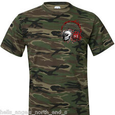 HELLS ANGELS SUPPORT BIG RED MACHINE CAMOUFLAGE-SHIRT F.T.W. 666 BRM 81 A.C.A.B.