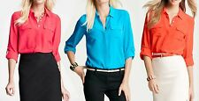 NWT Ann Taylor Long Sleeved Silk Shirt