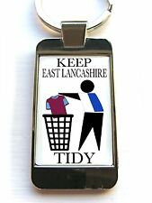 BLACKBURN SUPPORTERS KEEP AREA TIDY BADGE CUSTOM KEYRING KEYFOB OR BOTTLE OPENER