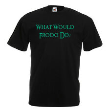 What Would Frodo Do? Black Standard T-Shirt lord of the rings BNWT All Sizes