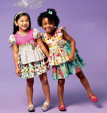 SEWING PATTERN! MAKE BOUTIQUE STYLE TOPS~SKIRT! SIZES TODDLER 2 TO CHILD 8! GIRL