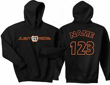 JUST RIDE CUSTOM NUMBER PLATE HOODIE SWEAT SHIRT MX MOTOCROSS YZF KTM CRF KXF