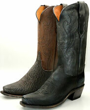 Lucchese M3517 & M3518 Black or Brown Sanded Shark Western Cowboy Boots 7 Toe