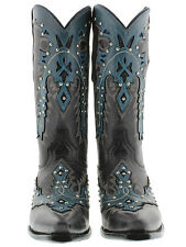 New women's cowboy boots ladies gringo love fully hand made old studded leather
