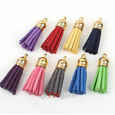 Mixed Lots Handmade Leather Tassel Charms Cell Phone Straps Pendants