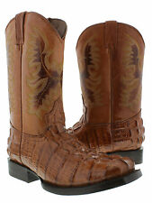 Women's ladies cowboy boots leather crocodile alligator hot western rodeo biker