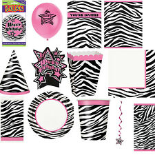 Zebra Birthday Party Supplies Tableware and Decorations All items here Free P+P
