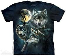 The Mountain Ladies Girls T-Shirt Animal Face Wolf New