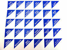Property Sales Labels Blue Small Triangles Estate & Letting Agents Stickers