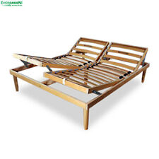 Beechwood Slatted Bed Base Manual ORANGE for Mattress Available in Every Size