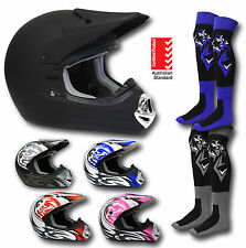 MX Helmet*AS1698*+Goggles+Socks-Motocross/Dirt Bike Gear/Motorbike/ATV/Quad