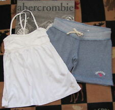 NWT ABERCROMBIE KIDS GIRLS FLEECE SHORTS & BABYDOLL TOP SZ L OR XL