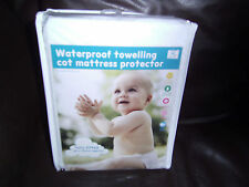 NEW BABY COT BED/COT WATERPROOF TOWELLING FITTED SHEET MATTRESS PROTECTOR/COVER