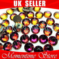 SAMPLE PACK SWAROVSKI FLATBACK ROUND CRYSTAL 001 VOL VOLCANO