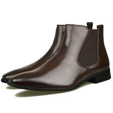 Mens New Black Leather Smart Formal Casual Boots Shoes UK SIZE 6 7 8 9 10 11