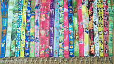 Cartoon Lanyards,Lots of Designs/Colours.Neck Id Holders.UK SELLER