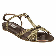 NEW HEAD OVER HEALS WOMENS J CLARA LADIES FLAT STRAPPY WOVEN SANDALS SIZE 3-8 UK