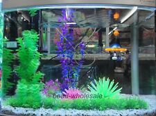 2Pcs Silicone Coral Plant Underwater Aquarium Fish Tank Artificial Decoration
