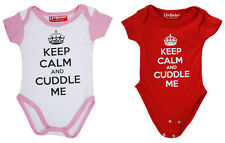 Darkside Keep Calm and Cuddle Me Boy Girl Baby Gro Suit Onesie Set Cute Romper