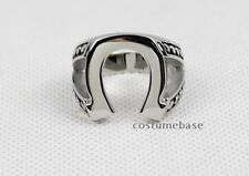 JUSTIFIED HORSESHOE RING Marshal Raylan TV Props Replica Stainless Steel New