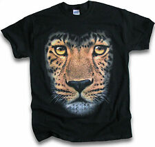 Wild Leopard Feline Big Cat Mens Womens T Shirt Sm 3XL