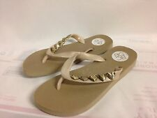 """BCBG """"Gavin 2"""" Flip Flops Gold Synthetic Upper New without Box"""