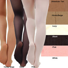TIGHTS Womens Girls Black, Pink, White, Ivory American Tan, Honeybeige One Size