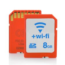 WiFi Class 10 SD Card - Transfer Pictures to Phones & Laptops thru Wifi - 8 GB