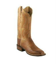 Lucchese CY7156 Womens Saddle Tan Burnished Calf Leather Western Cowboy Boots