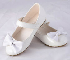 Mary Janes Shoes Formal Wedding Flower Girl Party Size UK 5.5-12 EU 22.5-30 #011