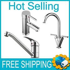Chrome Finish Modern Kitchen Bathroom Basin Sink Monobloc Mixer Tap
