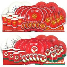 42 Piece Official Football Complete Party Boxes MUFC LFC 6 People Pack Birthday