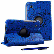 Cartoon PU Leather Case and Stylus pen for Samsung Galaxy Tab 2 7in P3110 cover