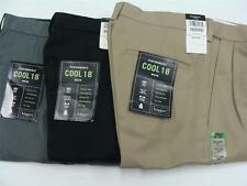 Haggar Men's Performance Wear Cool 18 Pleat Front Dress Pants Assorted NWT