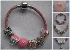 BABY TODDLERS PINK LEATHER CHARM BRACELET GIFT BOX BAG HELLO KITTY PEPPA PIG
