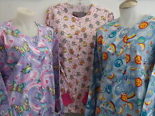 XS S L BUTTERFLY TEDDY BEAR RAINBOWS PUPRLE PINK YELLOW RED BLUE SCRUB JACKET